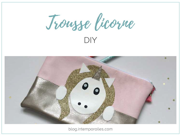 DIY trousse licorne