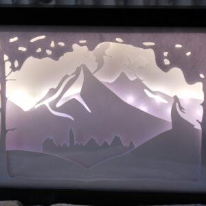 Diorama Lightbox dragons