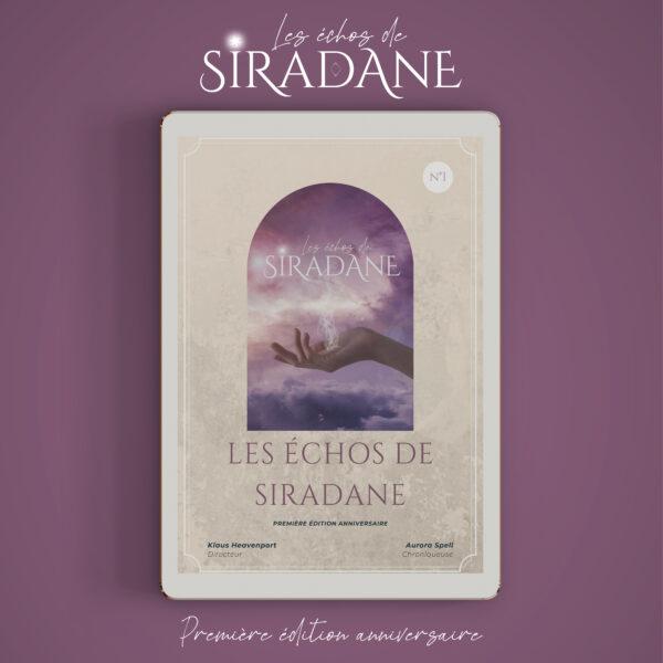 Ebook les échos de Siradane 1